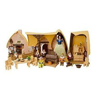 Snow White and the Seven Dwarfs Cottage Play Set Toys & Games