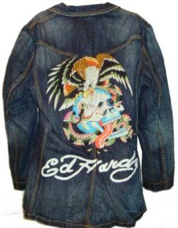 Men's Ed Hardy Denim Jacket Erica Eagle Strikes Available in Several Sizes (Small) at  Men�s Clothing store: Outerwear