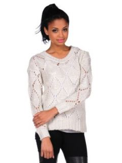 RD Style Womens Acrylic Sweater As Seen in People Style Watch   Pearl   Large