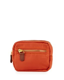 Au Revoir Nylon Mini Cosmetic Pouch, Orange