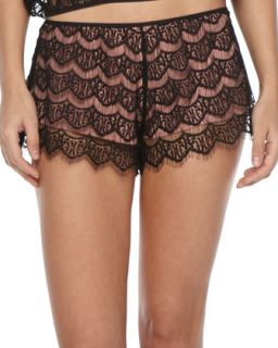 Womens Georgina Lace Shorts   Eberjey   French rose/Black (MEDIUM)