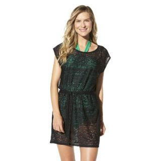 Merona Womens Crochet Coverup Dress  Black M