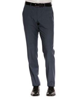 Mens Flat Front Dress Pants, Slate Blue   Boss Hugo Boss   Blue (30R)