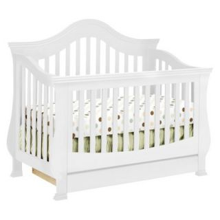 Million Dollar Baby Classic Ashbury 4 in 1 Convertible Crib with Toddler Rail