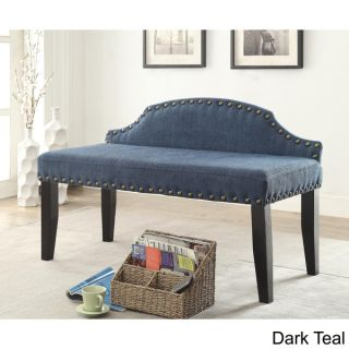 Furniture of America Emira 42 inch Flax Upholstered Accent Bench