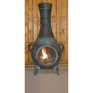 The Blue Rooster Aluminum Wood Chiminea