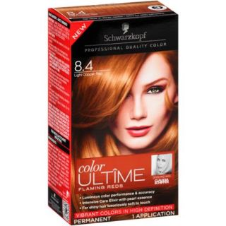 Schwarzkopf Color Ultime Flaming Reds Hair Coloring Kit, 8.4 Light Copper Red