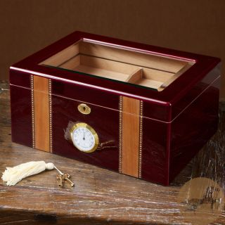 Christopher Knight Home Cherry Wood Glass Top Humidor