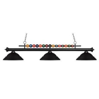 Filament Design Kerstin 3 Light Matte Black Billiard Light CLI JB049442