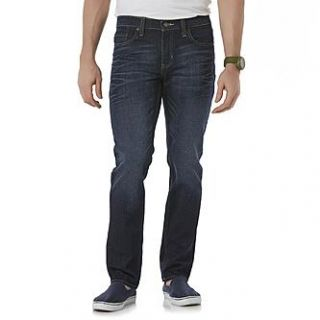 Roebuck & Co. Mens Skinny Jeans   Dark Wash   Clothing, Shoes
