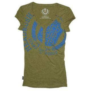 Headrush Women's Stand Proud T Shirt   Small   Lichen Green