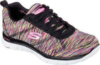 Womens Skechers Flex Appeal Training Sneaker   Whirl Wind/Black/Multi