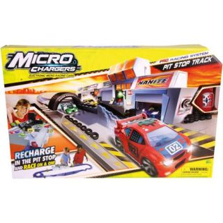 Moose Toys Micro Chargers Pro Racing Pit Stop Track