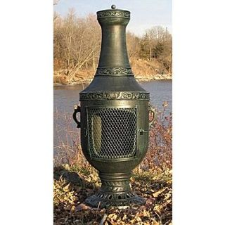 The Blue Rooster Venetian Style Chiminea; Antique Green