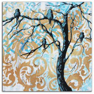 Megan Duncanson Blue Fantasy Colorful Modern Landscape Painting
