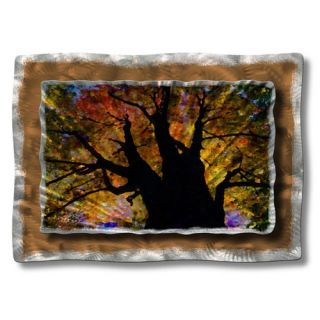 Brilliant Branches by Ash Carl Original Painting on Metal Plaque by