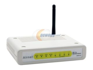 Airnet AWR014G 54Mbps Wireless Router IEEE 802.11b/g Wireless LAN ANSI/IEEE 802.3 Auto negotiation