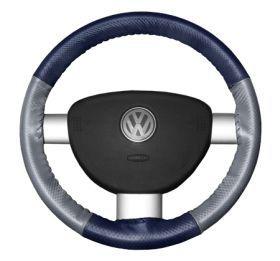 2015 Toyota Sienna Leather Steering Wheel Covers   Wheelskins Blue Perf/Grey Perf 15 1/4 X 4 1/2   Wheelskins EuroPerf Perforated Leather Steering Wheel Covers