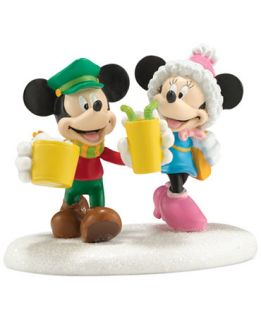 Department 56 Mickeys Christmas Village Collection Mickey & Minnies