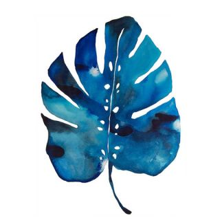 Wildon Home ® Split Leaf by Kate Roebuck Painting Print on Canvas