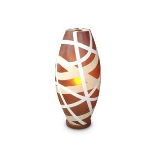 Jeffan Cape Town 26 in. Amber Table Lamp With Modern Airbrush Stroke Design LM 2231