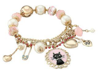 Betsey Johnson Boxed Black Cat Charm Bracelet