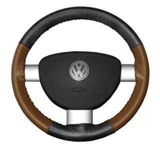 2015 Toyota Sienna Leather Steering Wheel Covers   Wheelskins Charcoal Perf/Tan 15 1/4 X 4 1/2   Wheelskins EuroPerf Perforated Leather Steering Wheel Covers