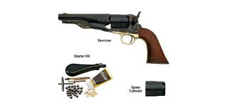 1860 Army Steel Sheriff .44 Caliber Revolver and Starter Kit