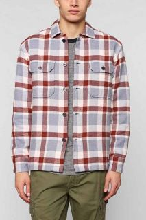Stussy Troop Plaid Flannel Button Down Shirt Jacket