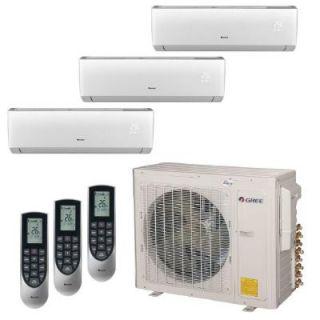 GREE Multi 21 Zone 30,000 BTU 2.5 Ton Ductless Mini Split Air Conditioner with Heat, Inverter, Remote   230 Volt/60Hz MULTI30HP304