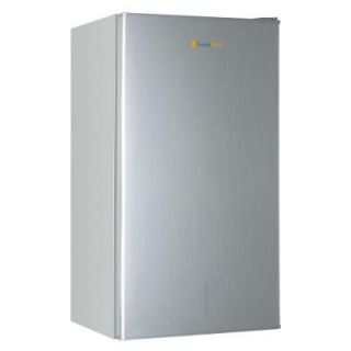 Grape Solar Glacier 5 cu. ft. Mini Refrigerator in Brushed Gray with DC/AC Adapters GS UF 5 Fab1
