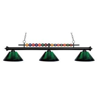 Filament Design Kerstin 3 Light Matte Black Billiard Light CLI JB049145