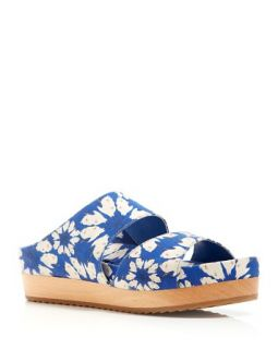 Alice + Olivia Slide Sandals   Brianna Daisy Crown Flatform