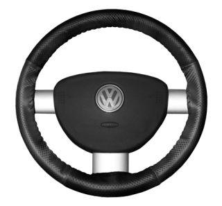 2015 Toyota Sienna Leather Steering Wheel Covers   Wheelskins Black Perf/Charcoal Perf 15 1/4 X 4 1/2   Wheelskins EuroPerf Perforated Leather Steering Wheel Covers