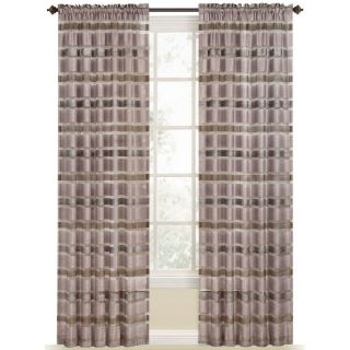 Style Selections Duran 84 in Plum Polyester Rod Pocket Light Filtering Sheer Single Curtain Panel