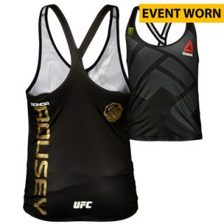 Ronda Rousey Ultimate Fighting Championship  Authentic UFC 190 Rousey vs. Correia Event Worn Fight Tank   Defeated Bethe Correia via First Round Knockout to Retain the Womens Bantamweight Championship