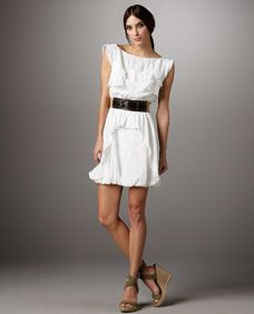 Ali Ro Belted Ruffle Detail Dress