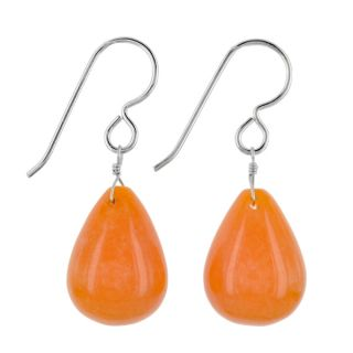 Ashanti Sterling Silver Mandarin Jade Gemstone Handmade Earrings (Sri