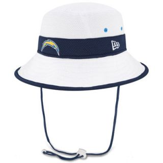 San Diego Chargers New Era On Field Training Camp Bucket Hat   White