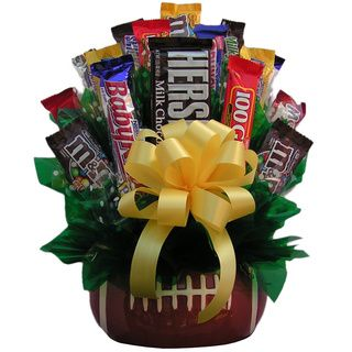 Football Large Chocolate/Candy Bouquet