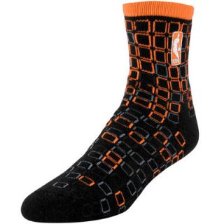 NBA Logo Digital Stroke Tri Blend Crew Socks   Orange