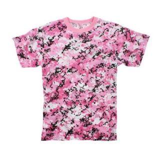 Pink Digital Camouflage T Shirt, X Large