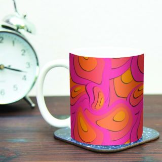 Fly Away Sadness by Akwaflorell 11 oz. Abstract Ceramic Coffee Mug by