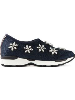 Philippe Model Crystal embellished Slip On Sneakers   Gore