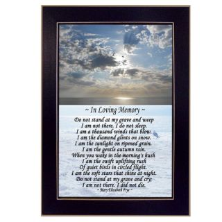 Trendy Decor 4U In Loving Memory (Coastal) Framed Painting Print