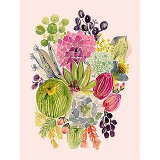 GreenBox Art Succulent Bouquet I by Shannon Newlin Painting Print on Canvas; 40 H x 30 W