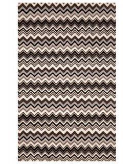 Liora Manne Area Rug, Seville 9666/48 Zigzag Stripe Black/White 9 x