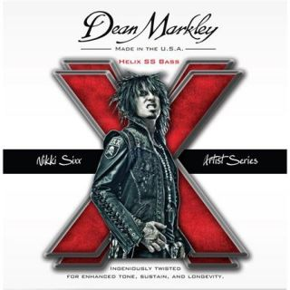 Dean Markley Nikki Sixx Helix SS Bass Guitar Strings, 50 110 Gauge, 4 String Set DM2620
