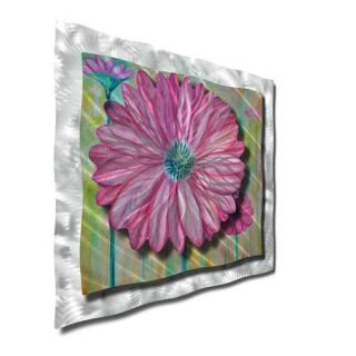 Zinnia by Ash Carl Original Painting on Metal Plaque by All My Walls