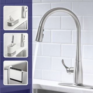 Kohler Simplice Single Hole or Three Hole Kitchen Sink Faucet with 16